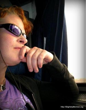 thinking and listening on a train